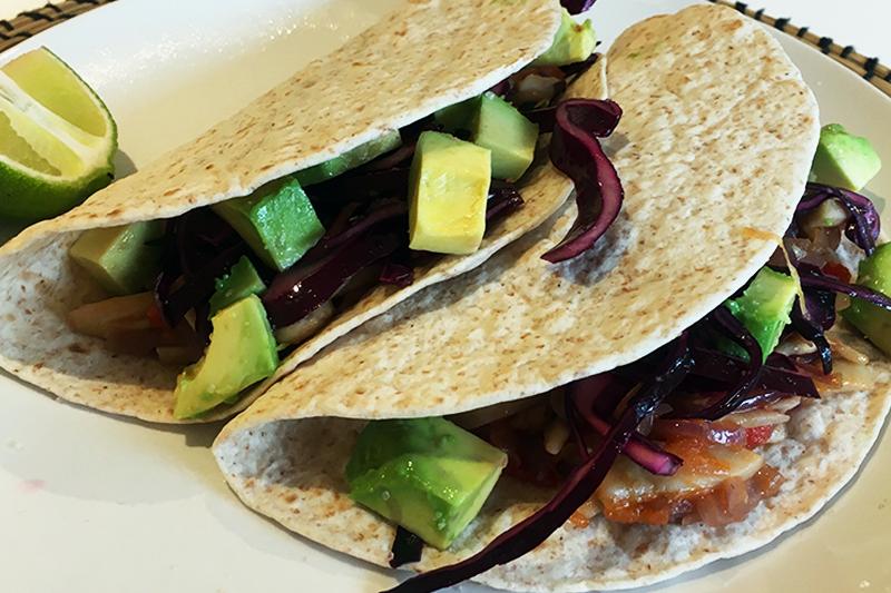 Tacos aux chipotle et pleurotes